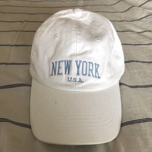 New York USA hat white and blue letters